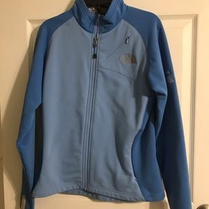 The north face zip up light jacket
